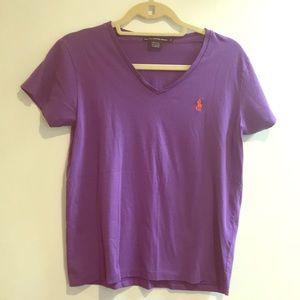 Ralph Lauren sport purple t shirt